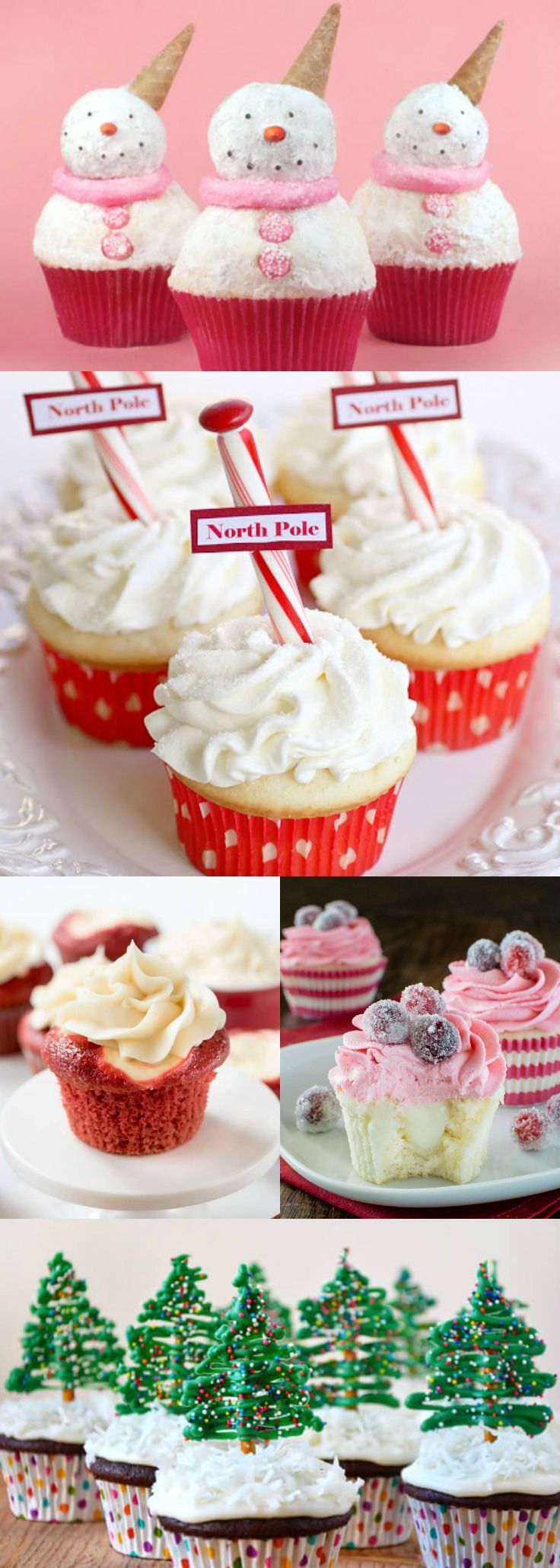 Christmas Cupcake Recipes, Holiday Cupcake Ideas, Christmas Cupcake Decorating
