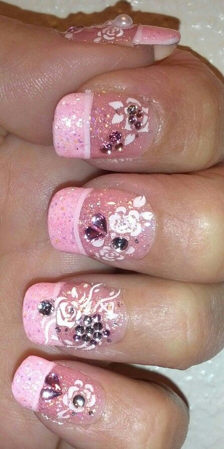 918 best my futurecurrent nail art projects products images on pink glitter polish decals jewels and gel gloss top coat prinsesfo Images