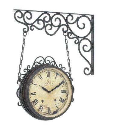 Amazon.com: Antique Style French Provincial Double Sided Wall Clock: Furniture & Decor