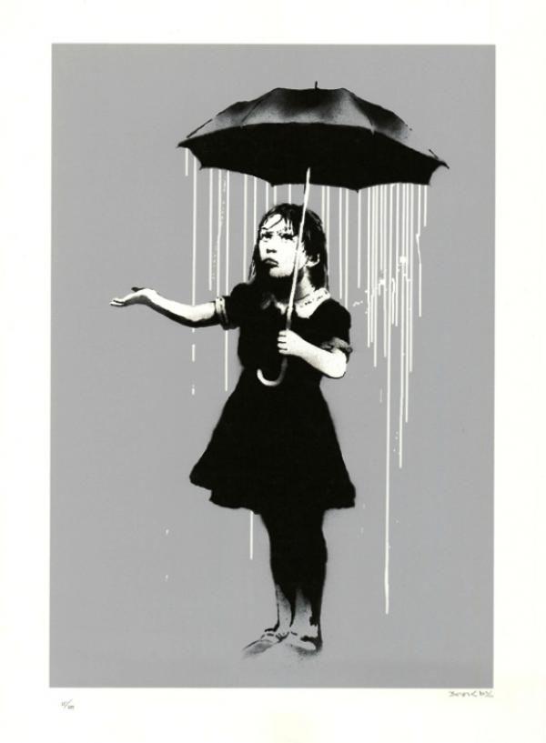 Banksy Nola White Rain By Banksy -   ArchesArt