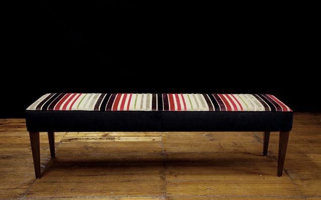 Moyka Benchseat in Designers Guild Velvet Stripe