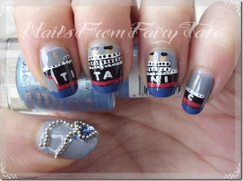 Titanic nails? That's wrong.. every time you wash your hands it would be like you are sinking it all over again