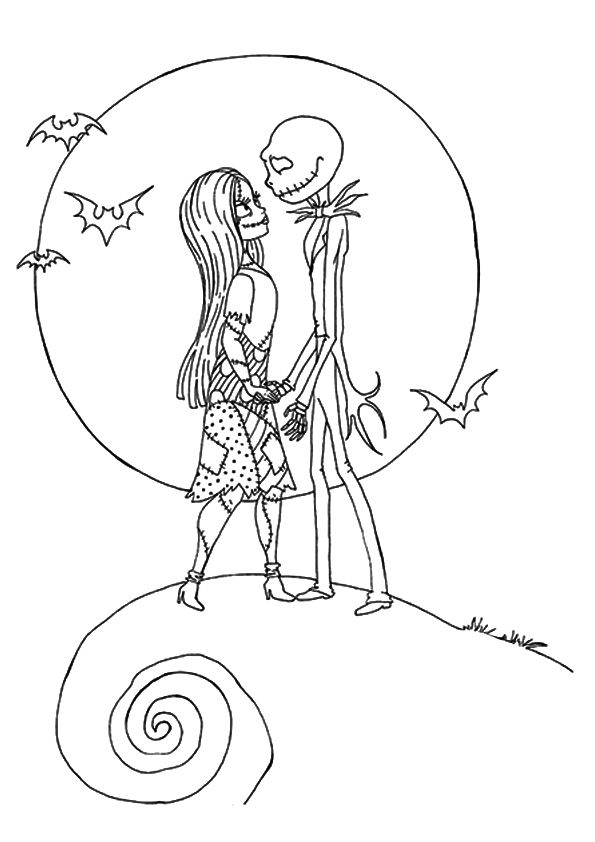 magnificent nightmare before christmas coloring pages