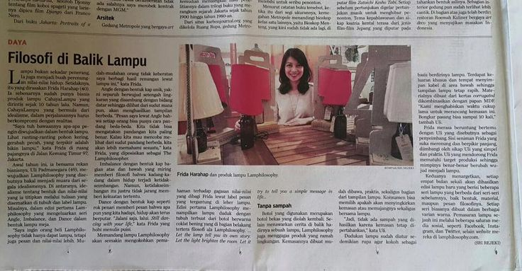 We were featured on Harian Kompas (newspaper), 22 November 2015