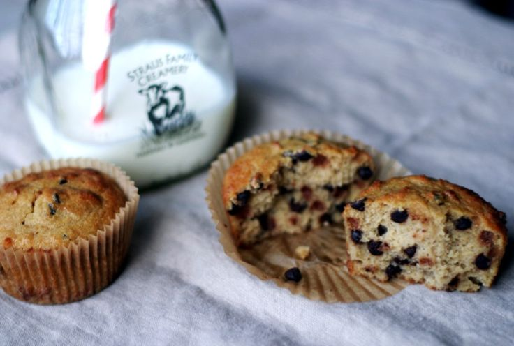 Paleo Chocolate Chip Muffins-1/2 cup of coconut flour  1/4 teaspoon of sea salt  1/4 teaspoon of baking soda  4 eggs  1/2 cup of maple syrup (or honey or other liquid sweetener)  1 tablespoon of vanilla extract  1/3 cup of unsalted butter, melted (or olive oil, coconut oil, vegetable shortening, or oil of your choice)  1/3 cup of mini chocolate chips (I'm generous here, so you could get away with 1/4 cup if you don't want to load up on chocolate)