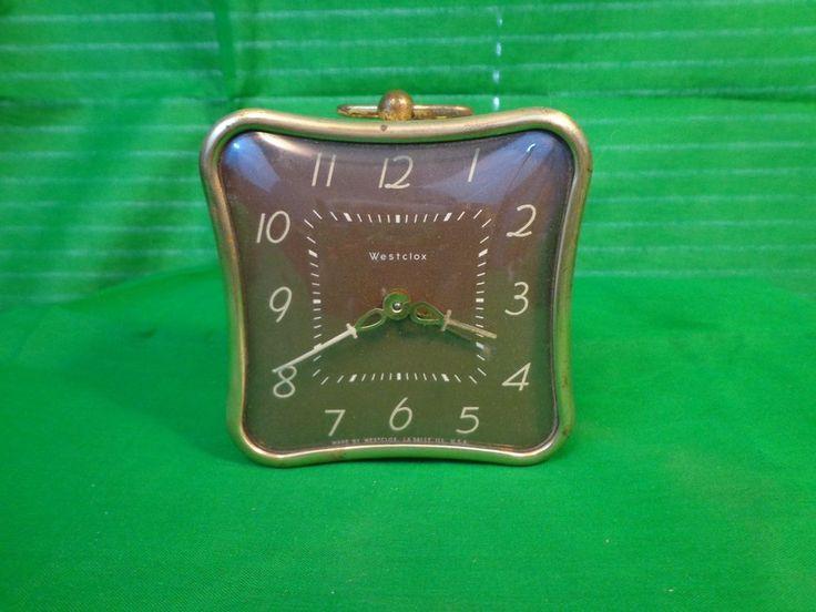 Vintage Working 1950's Westclox La Sallita (Pillow Shaped) Alarm Clock