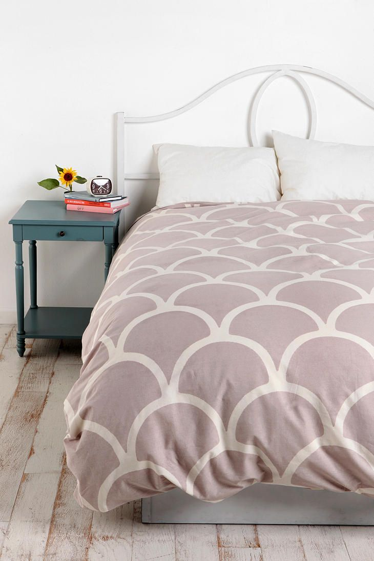 Bedding jardin collection bedding collections bed amp bath macy s - Full Queen Stamped Scallop Grey Duvet Cover 69 For The Pull Out Guest