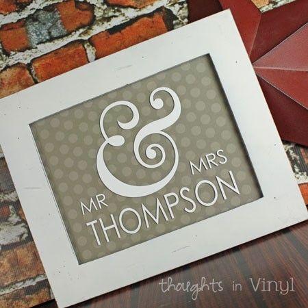 mr mrs monogram for 8x10 frame thoughts in vinyl 950 love monogram wedding giftsdiy