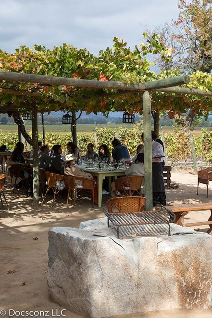 I want a patio like this one. #Colchagua Valley Chile .. #pinterest-colchagua-tours