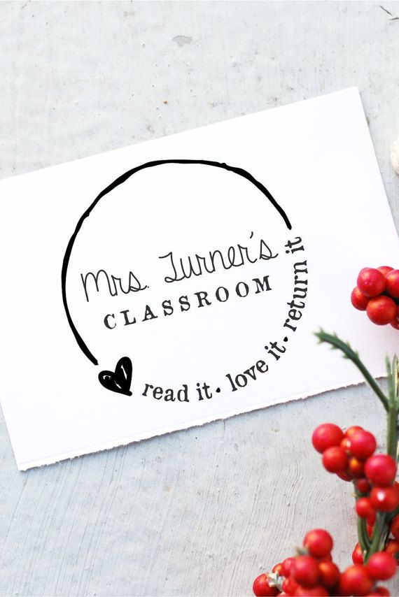 Teacher Stamp - Custom Book Self-inking Stamp- From The Classroom Of Stamp- Teacher Book Stamp- Personalized Rubber Stamp- 10183