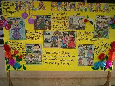 Periodico mural mes de abril 11 decoraci n de clase for Contenido del periodico mural