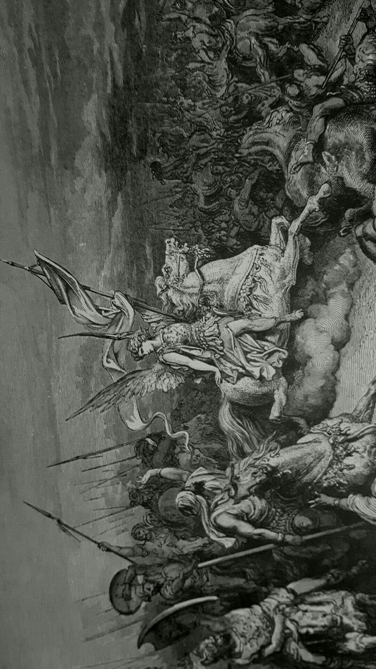 Phillip Medhurst presents detail 155/241 Gustave Doré Bible The Angel Is Sent to Deliver Israel 2 Maccabees 11:8