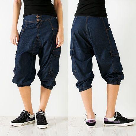 VSCT Clubwear Lady Ballon Denim Bermuda Pants Blue Rinsed