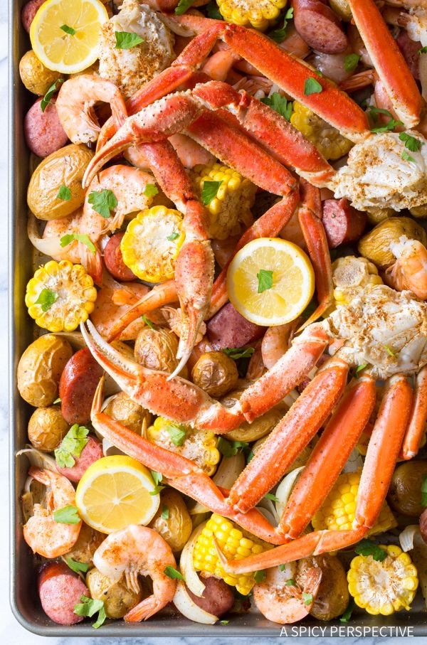 Amazing Sheet Pan Low Country Boil (Broil) Recipe - All the intrigue of a classic shrimp boil, roasted on a baking sheet for better texture!