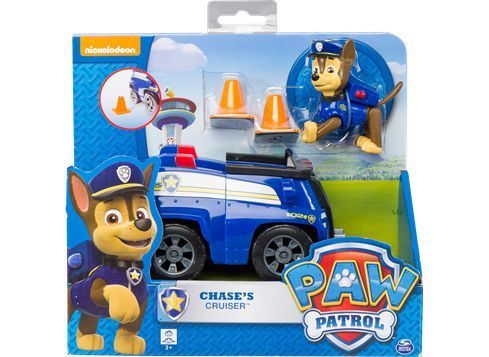 PAW PATROL basiskjøretøy med valp Chase i SWAT-bil