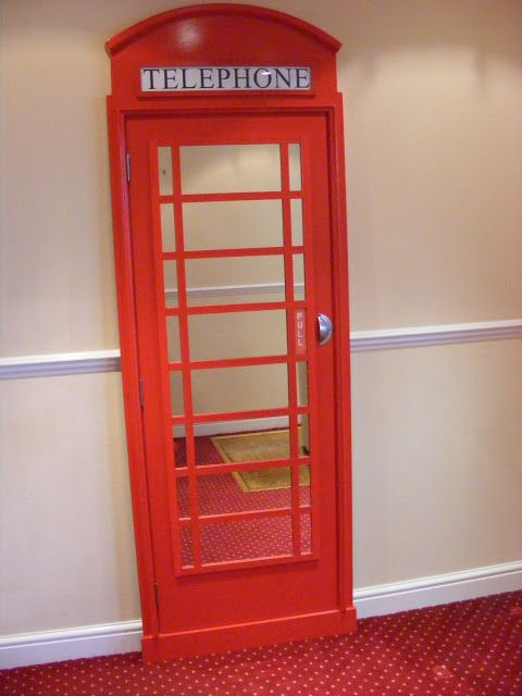 London Telephone Box Mirror - make for closet door