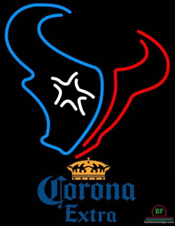 Corona Extra Houston Texans Neon Sign NFL Teams Neon Light