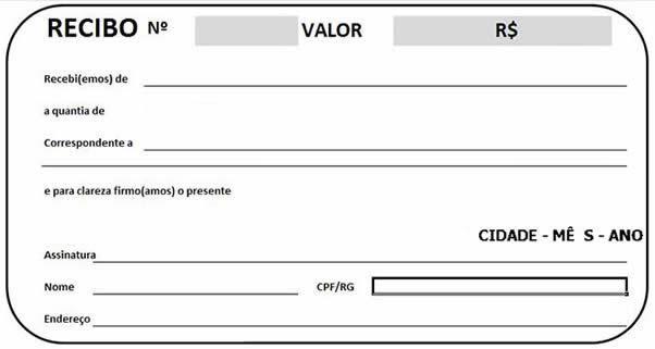 Modelo de recibo de pagamento com canhoto  Modelo de recibo de pagamento completo