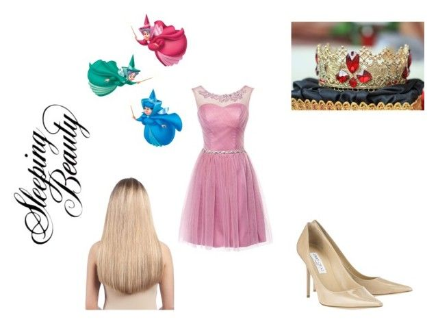 """""""Modern day princesses: Sleeping Beauty"""" by squishycake ❤ liked on Polyvore featuring Jimmy Choo, Extension Professional and modern"""