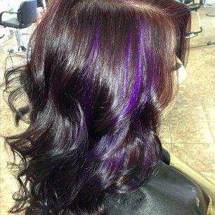 Purple Hair Nails Make Up Etc Pinterest Hair