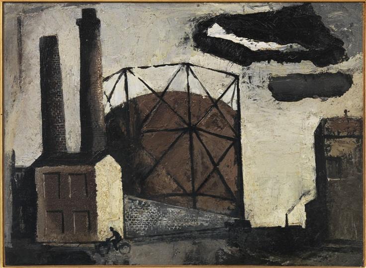 """Mario Sironi - Il gasometro, 1943 Mart, Collezione Giovanardi """"La Magnifica Ossessione"""" www.mart.tn.it/magnificaossessione"""