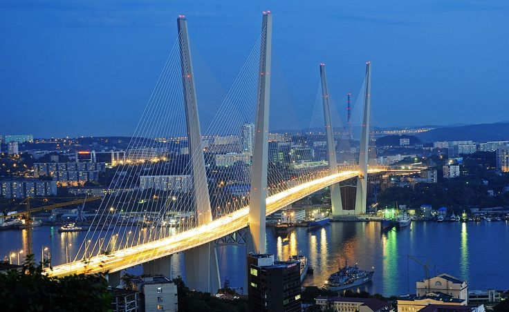 russia bridges | The bridge was officially opened on August 11, 2012. The length of the ...