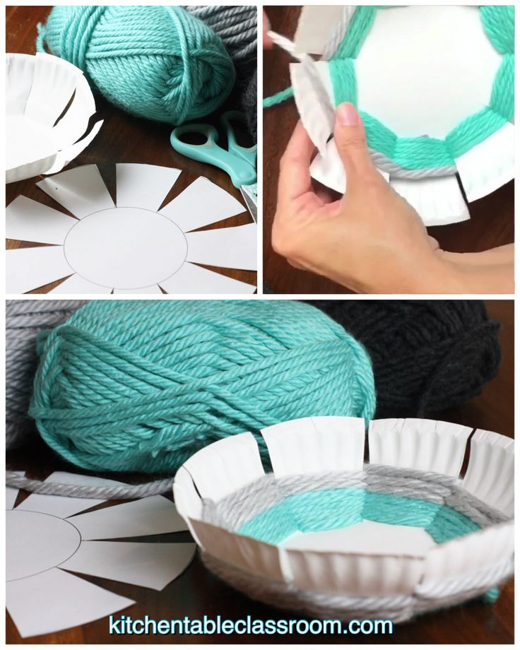 Turn a paper plate into this fun woven bowl with the free printable bowl template.
