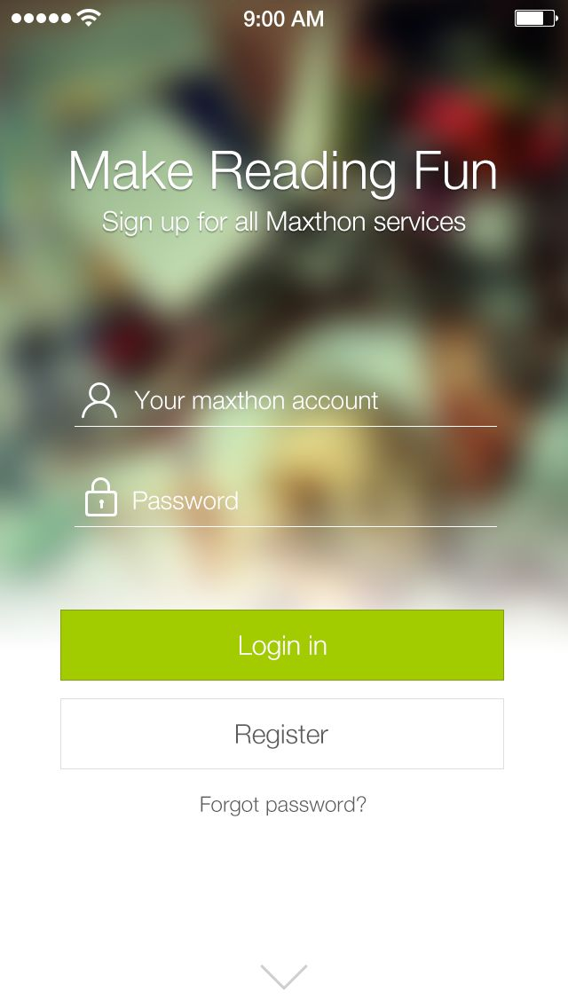 Very cool login iPhone app screen. Check it out!