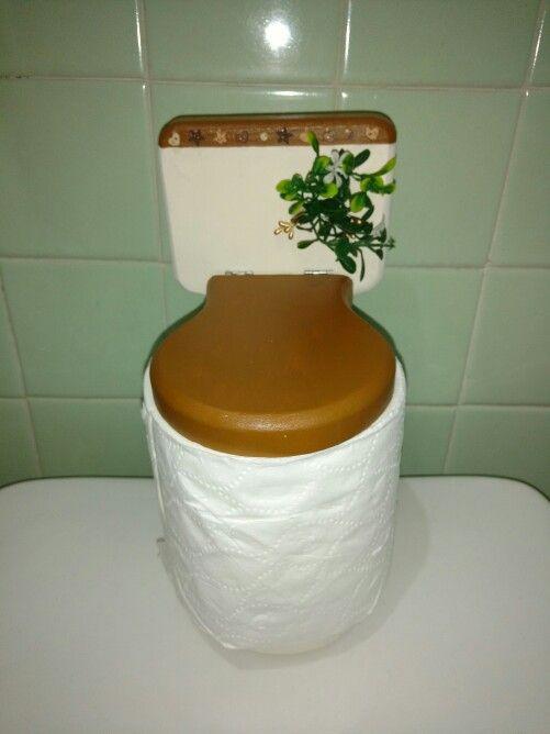 Taza de ba o porta rollo de papel higienico de madera for Tazas para bano modernas
