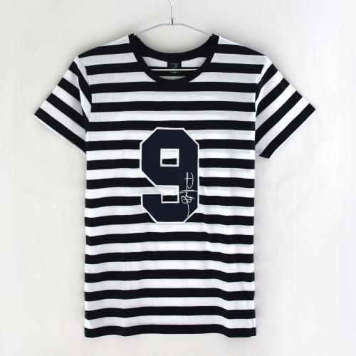 ローランドベリー クルーネック ショートスリーブ ナンバー9 ボーダー Tシャツ