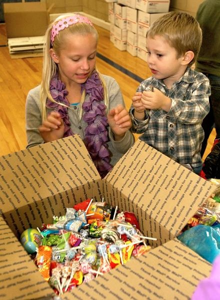 The Stony Creek Elementary School Community Kids Club again sponsored a Halloween Candy drive.The club asked families to send in donations of Halloween candy that will then make its way to Operation Gratitude, an organization that creates care packages for our service members overseas.