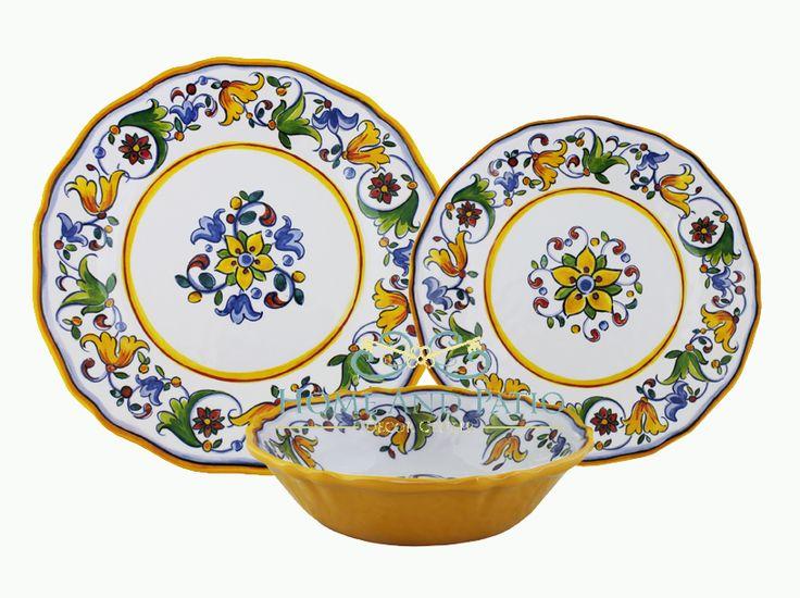 Awesome Le Cadeaux Capri 18PC Melamine Dinnerware Set Service For 6