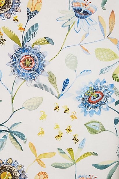 Detail1. Anthropologie Wallpaper. Would love this in a small powder room.