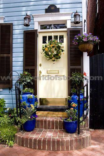 100 Best Front Door Images On Pinterest Door Wreaths Spring