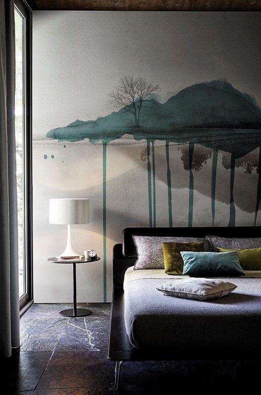Contempory Wallpaper für die Innenwände. Wall&Deco überzeugt wieder mal mit einem überraschenden, kreativem Design. Wie ein Gemälde an der Wand setzen Sie Blickpunkte. Die übrigen Wände dann in…