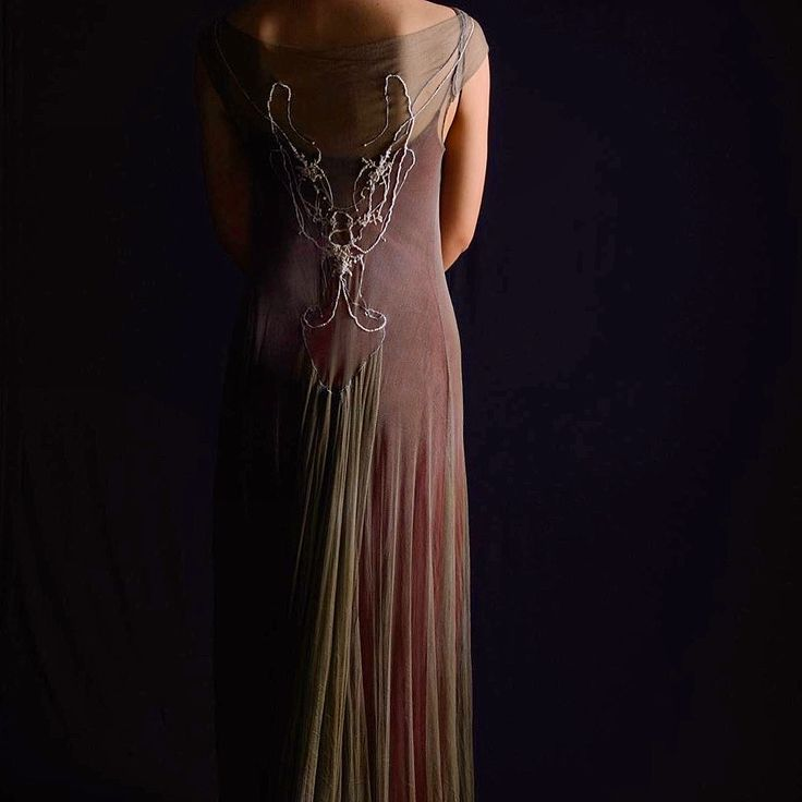 Atelier Natalie Capell Barcelona  Hand embroidered silk tulle dress... When simple, real beauty prevails , elegance captivates...