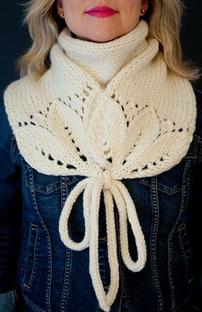 cute, cute, cute way to finish and wear ~ Ravelry: White River Junction pattern by Natalie Marshall