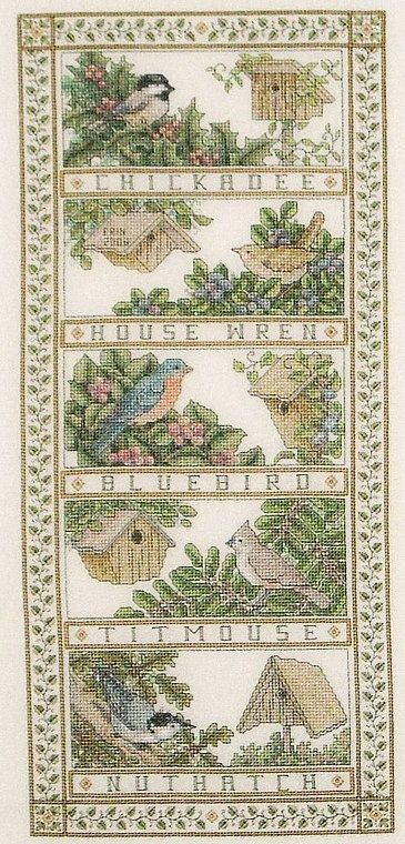 Birdhouse Sampler Cross Stitch Pattern by StitchySpot on Etsy, $6.00