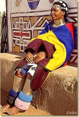 Ndebele (Herringbone) Stitch - its history and current use