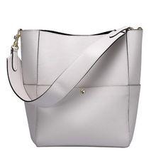 100% натуральная кожа сумки luxury brand женщины сумки итальянские сумки на ремне женский дизайнер известный бренд дамы ведро сумка(China (Mainland))