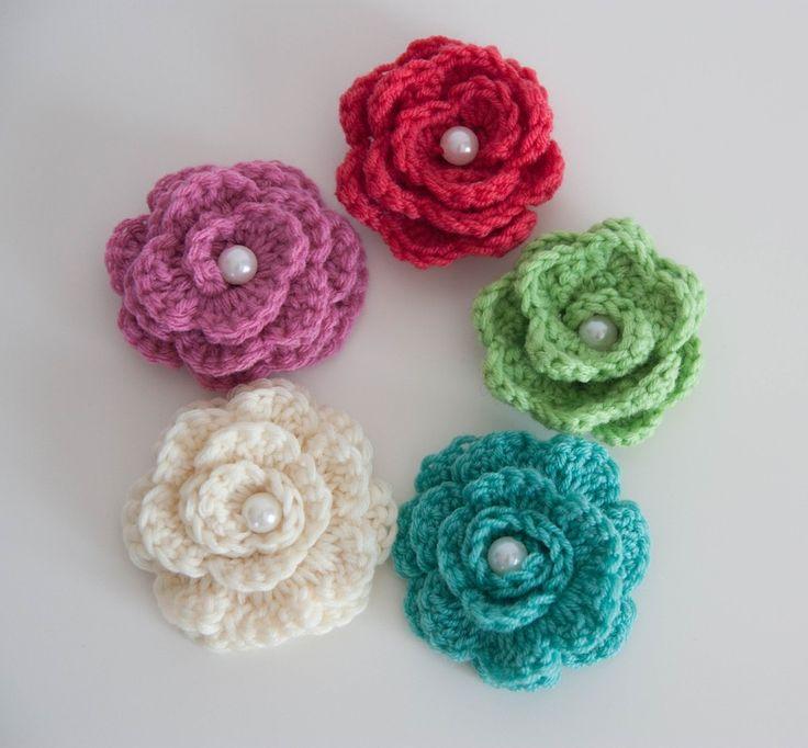 Horgolt virág - Babamigurumi
