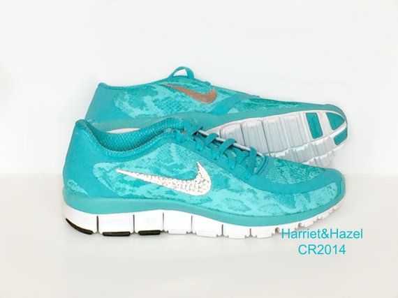 Turquoise Cheetah Tennis Shoes