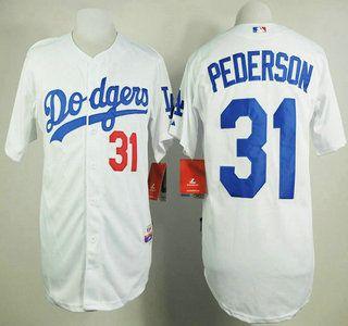 Los Angeles Dodgers Jersey 31 Joc Pederson White Jerseys