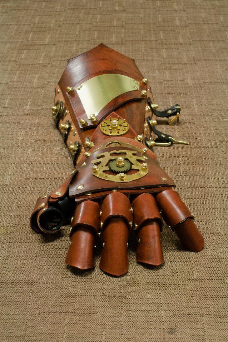 http://lagueuse.deviantart.com/art/Steampunk-Gauntlet-325089296
