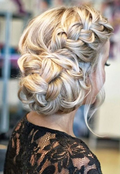 Side Braided Bun Wedding Hairstyle For Long Hair Sophisticated