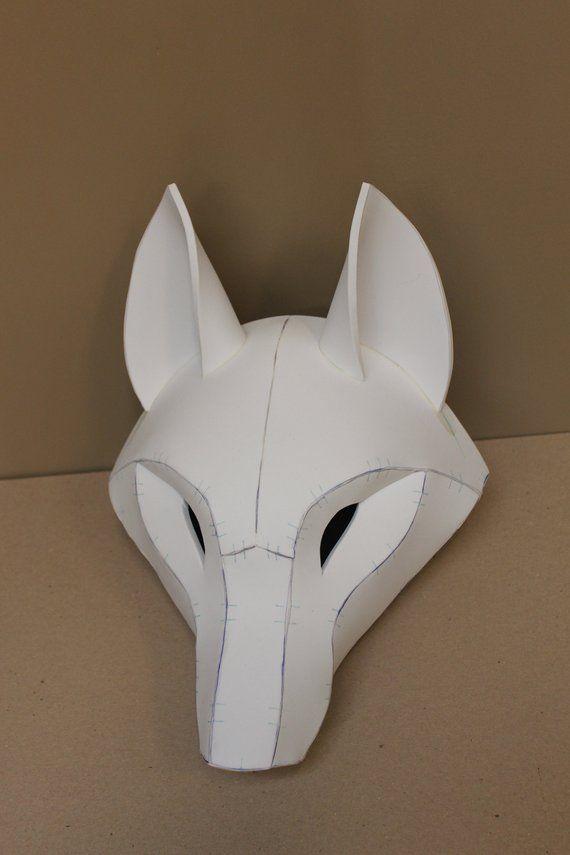 Kistune Fox Mask Base Pattern Tutorial For Eva Foam Etsy