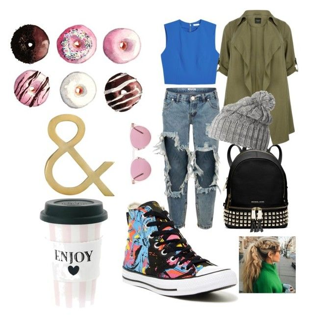 """""""Yes!!!"""" by antonella-ienna on Polyvore featuring moda, MICHAEL Michael Kors, Alice + Olivia, One Teaspoon, Converse, Oliver Peoples e Helly Hansen"""