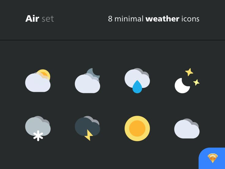 http://getcraftwork.com/air-icon-set/ Air Icon Set 8 minimal weather icons created by Laurent DESSERREY.