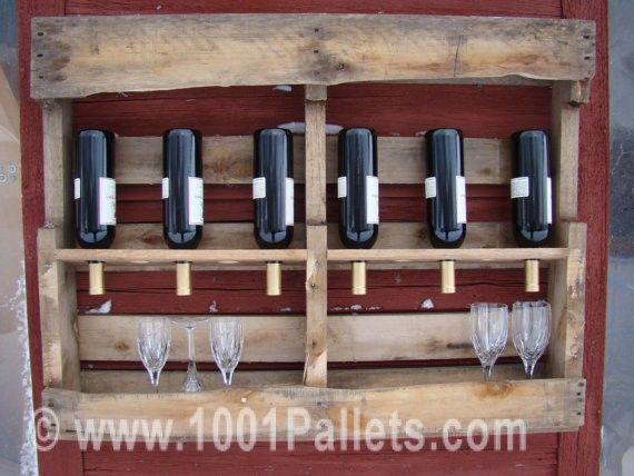 Pallet Wine Rack #Pallets, #Rack, #Wine