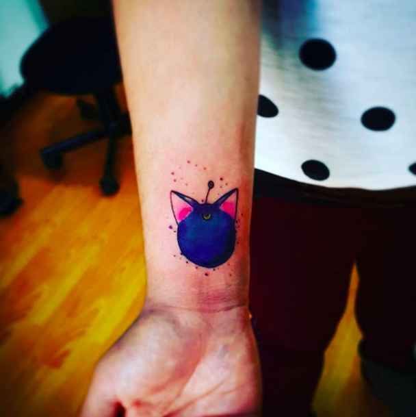 This cool tattoo of Luna-P: